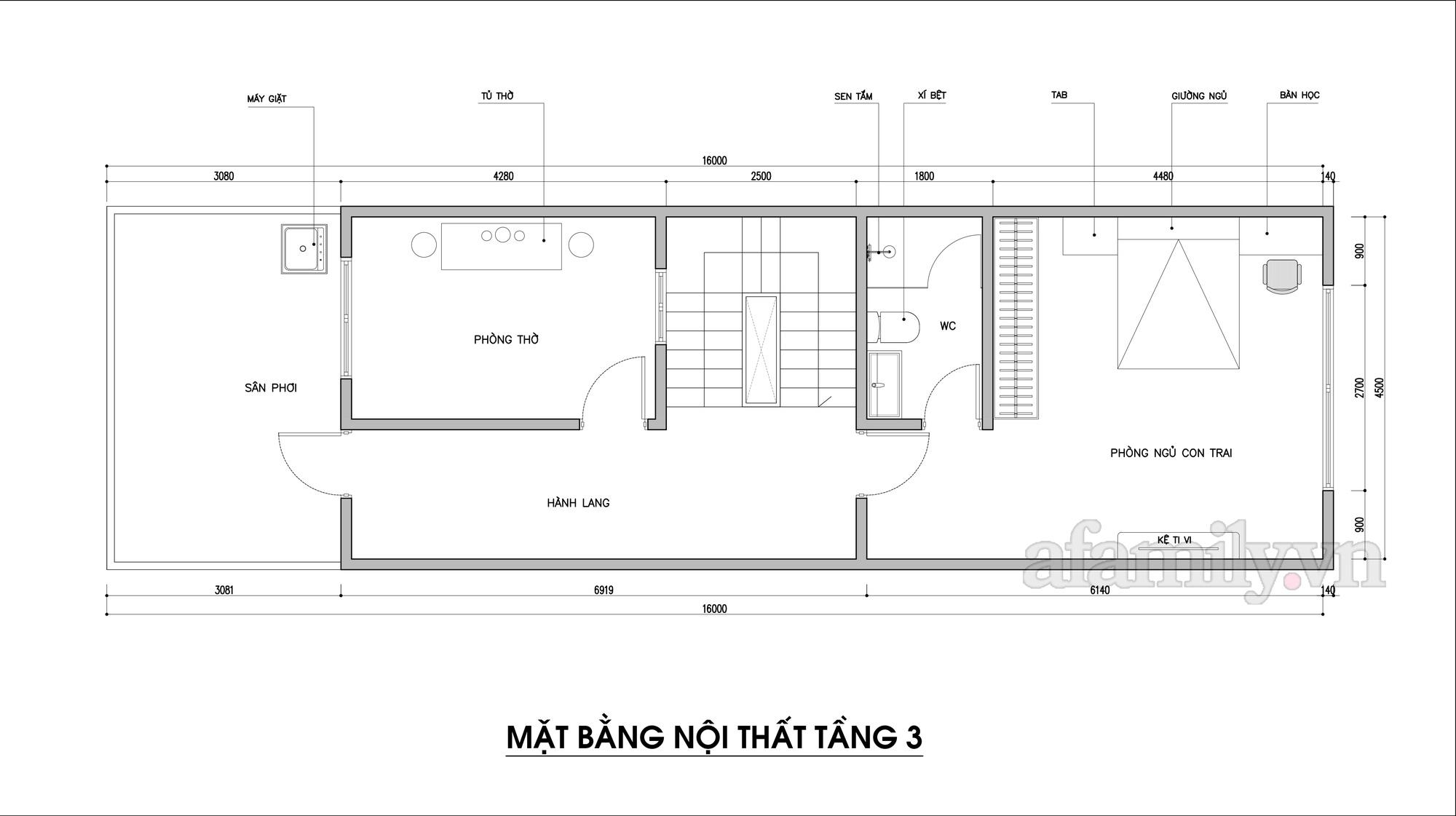 Kiến trúc sư tư vấn thiết kế nhà phố 3 tầng diện tích 72m² với chi phí tiết kiệm chỉ 220 triệu đồng - Ảnh 4.