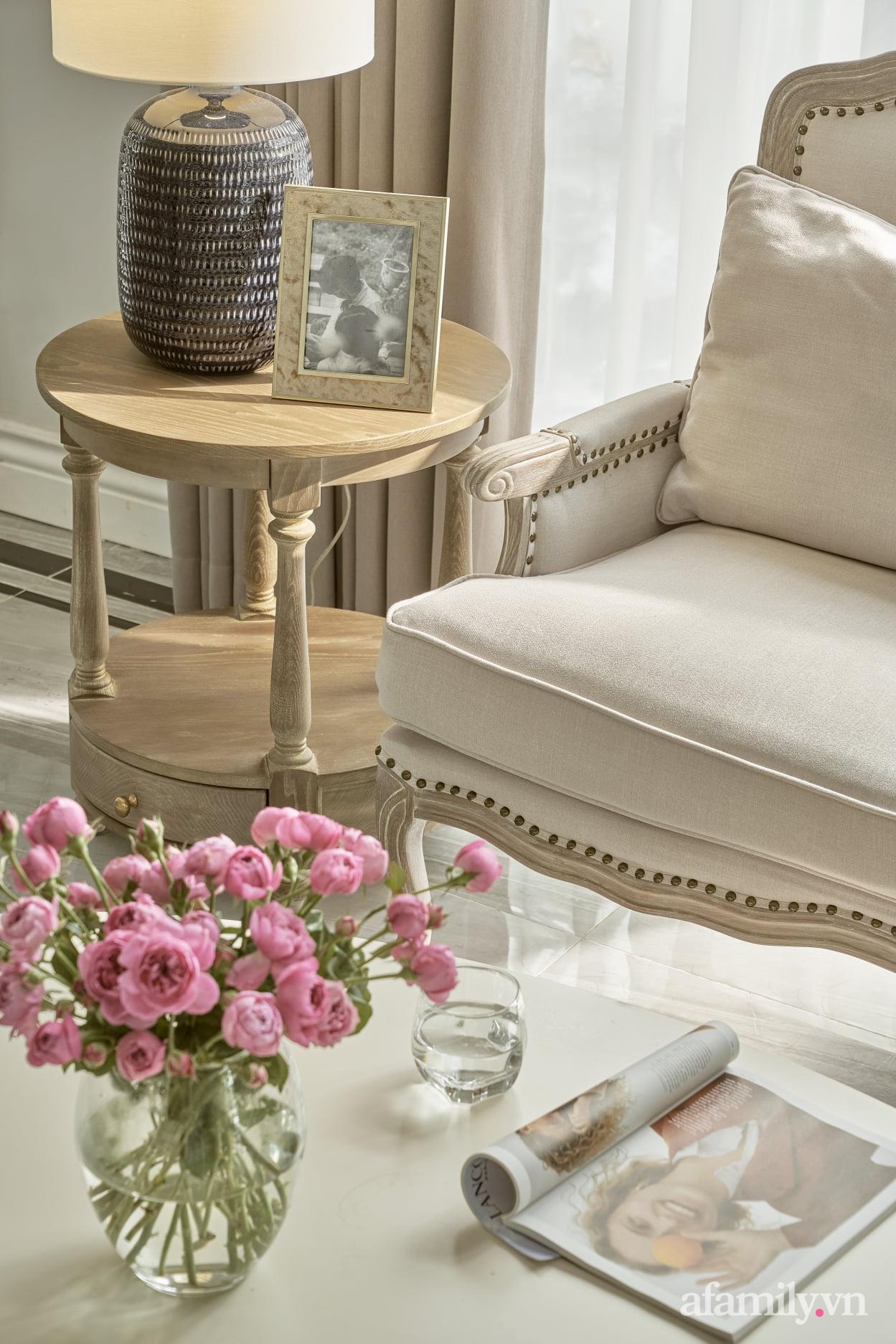 Nhà phố 3 tầng đẹp sang trọng với nội thất cực chất theo phong cách Traditional ở Hà Nội - Ảnh 10.