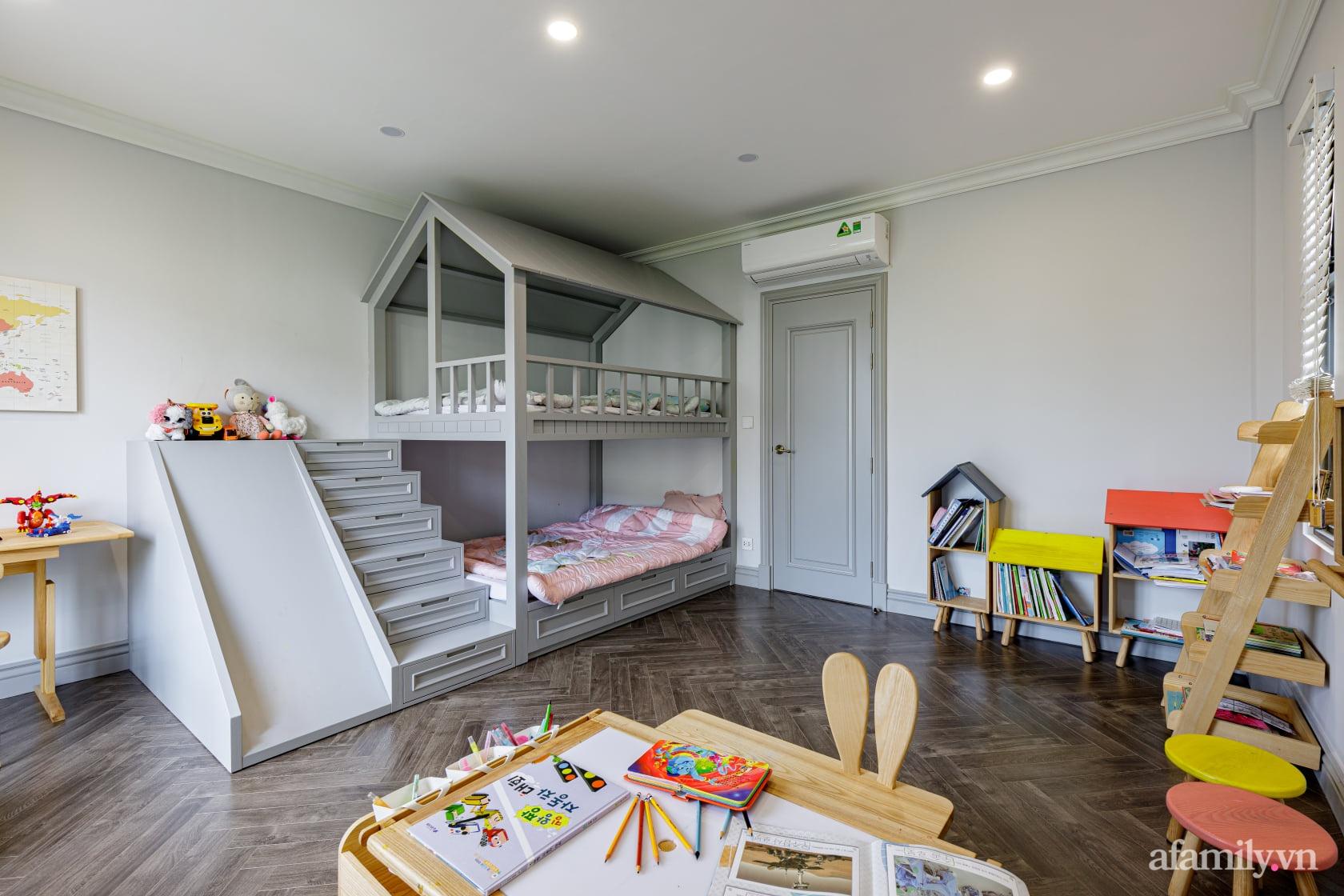 Nhà phố 3 tầng đẹp sang trọng với nội thất cực chất theo phong cách Traditional ở Hà Nội - Ảnh 26.