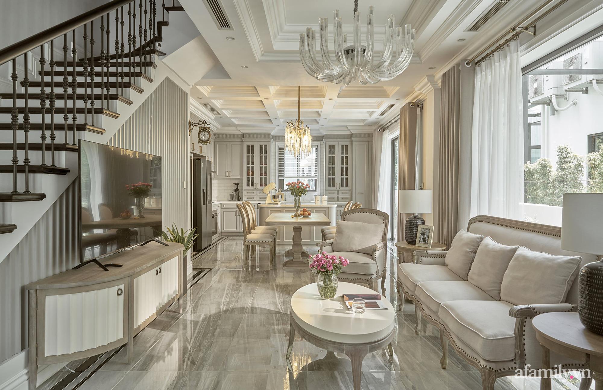 Nhà phố 3 tầng đẹp sang trọng với nội thất cực chất theo phong cách Traditional ở Hà Nội - Ảnh 8.