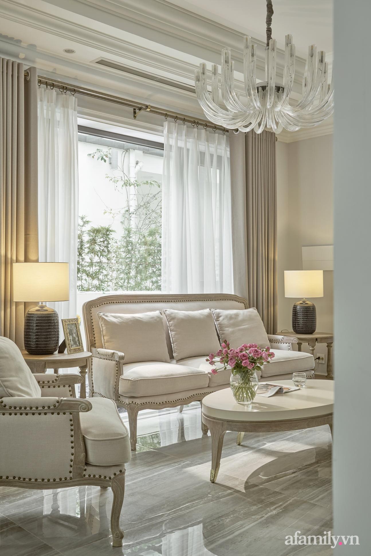 Nhà phố 3 tầng đẹp sang trọng với nội thất cực chất theo phong cách Traditional ở Hà Nội - Ảnh 9.