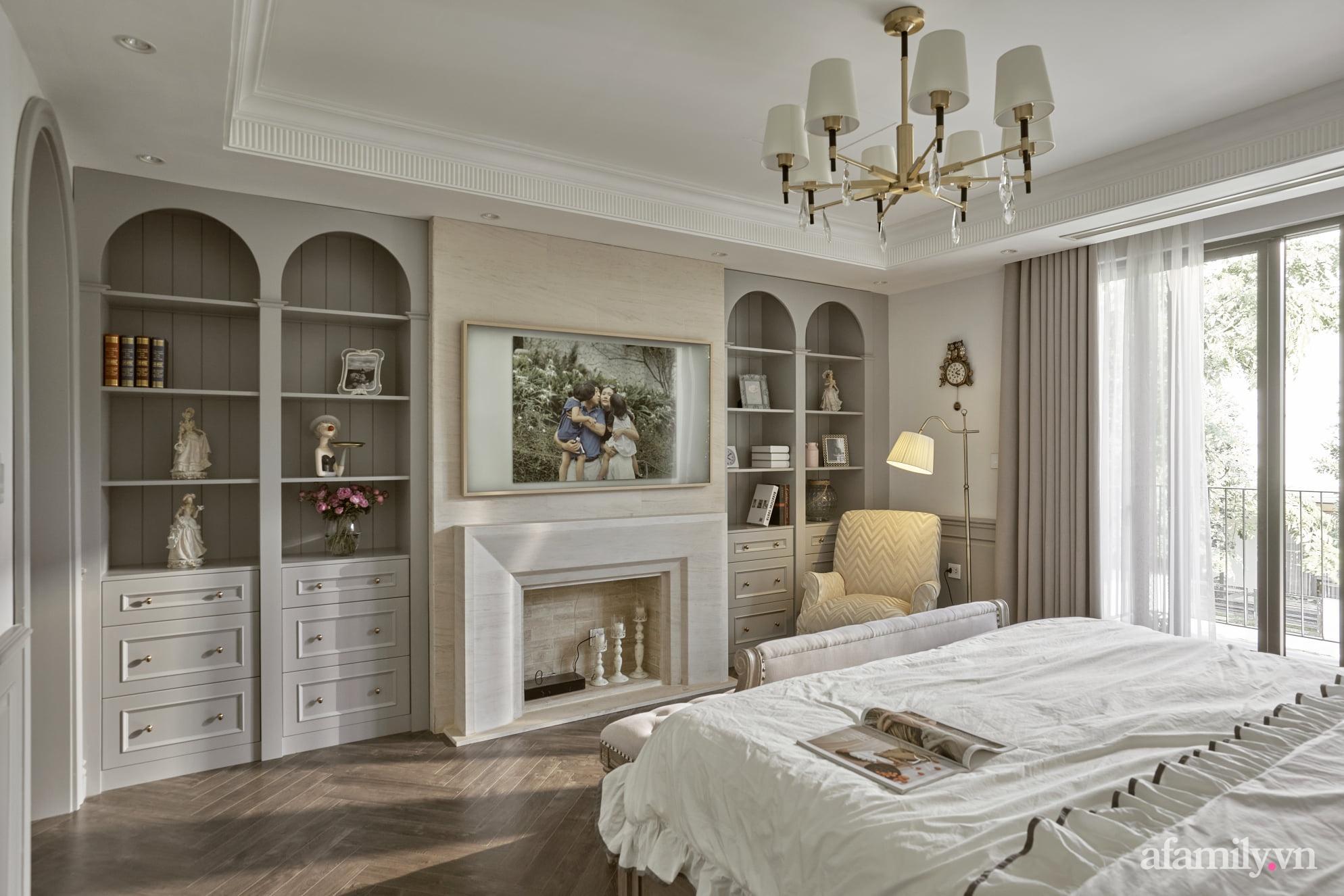 Nhà phố 3 tầng đẹp sang trọng với nội thất cực chất theo phong cách Traditional ở Hà Nội - Ảnh 18.