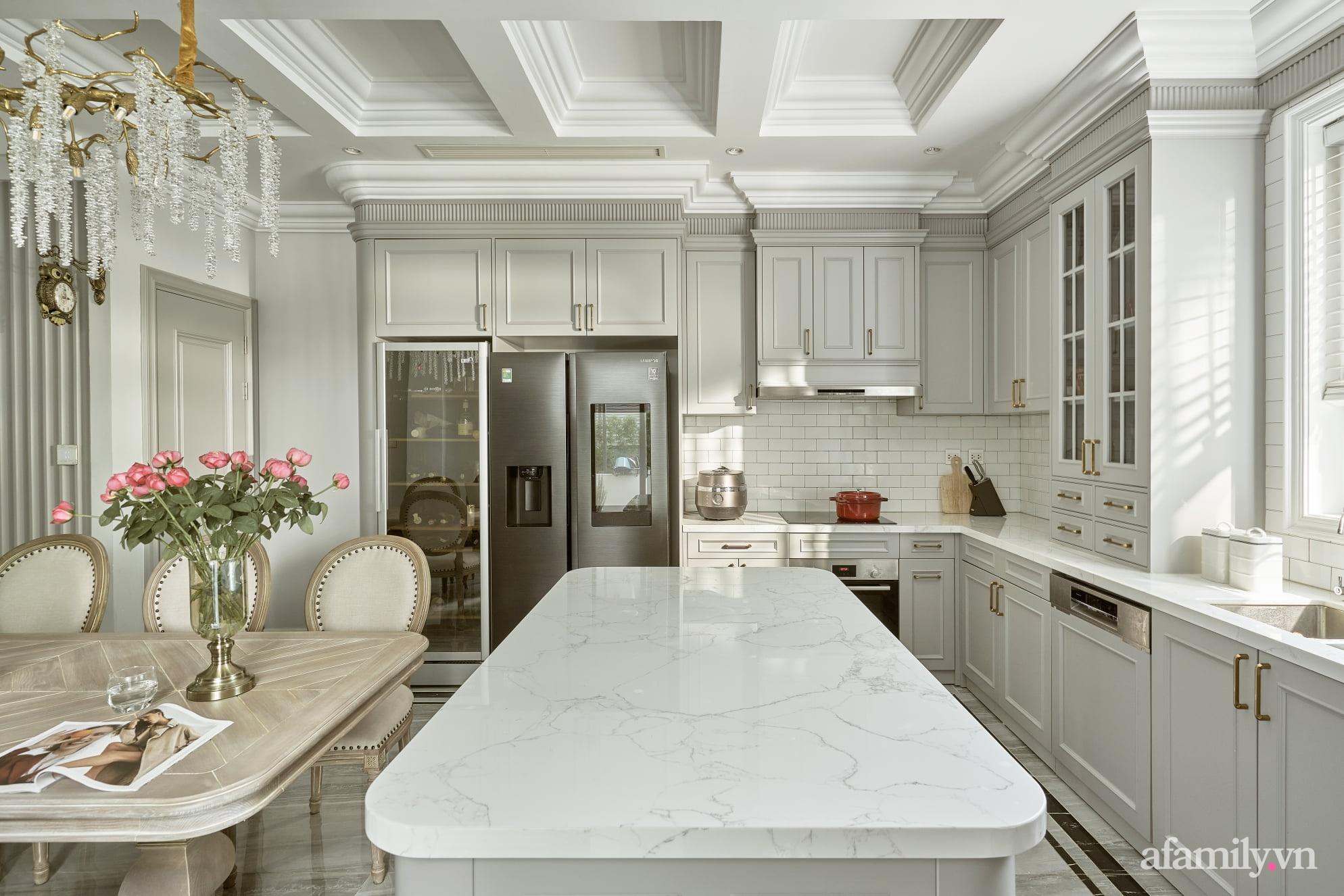 Nhà phố 3 tầng đẹp sang trọng với nội thất cực chất theo phong cách Traditional ở Hà Nội - Ảnh 12.