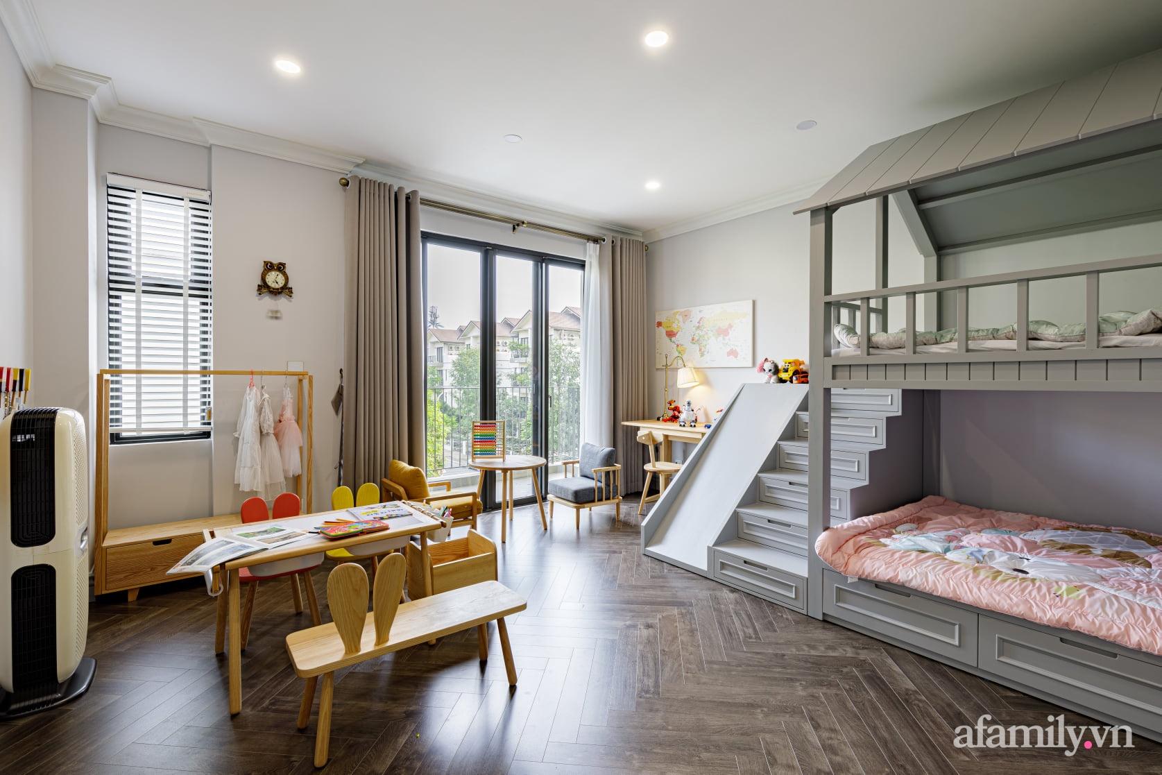 Nhà phố 3 tầng đẹp sang trọng với nội thất cực chất theo phong cách Traditional ở Hà Nội - Ảnh 25.