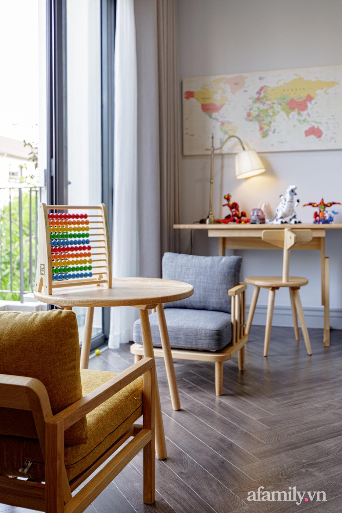 Nhà phố 3 tầng đẹp sang trọng với nội thất cực chất theo phong cách Traditional ở Hà Nội - Ảnh 24.