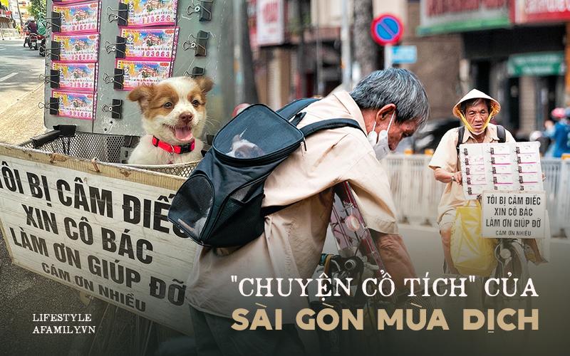Cụ ông câm, điếc cưu mang chú chó nhỏ, thà rong rủi bán vé số để lấy tiền nuôi nhau chứ không nhận 70 triệu khi người Sài Gòn dang tay giúp đỡ - Ảnh 1.