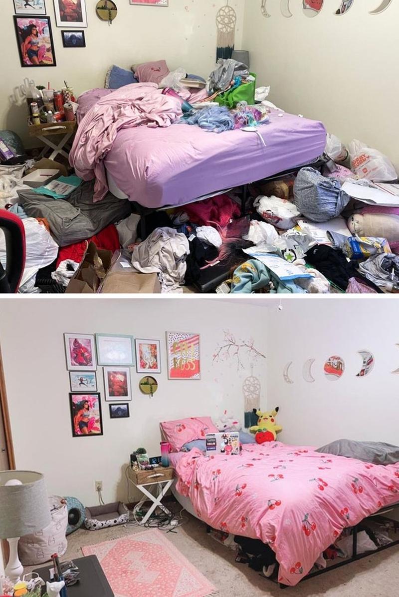 """Tôi đã vật lộn với căn phòng của mình vài tiếng đồng hồ và """"phát khóc"""" khi nhìn kết quả! - Ảnh 1."""