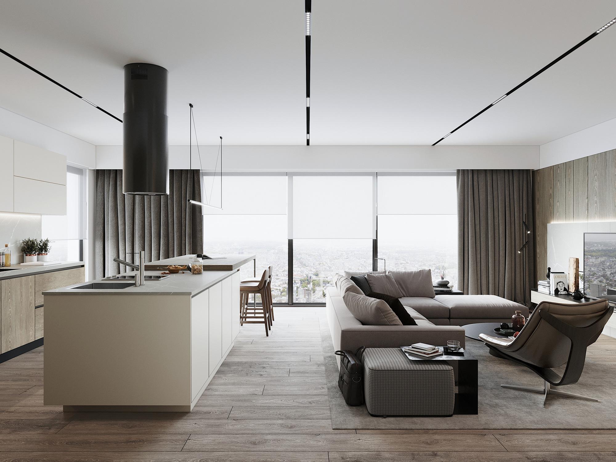 Kiến trúc sư tư vấn thiết kế căn hộ 76m² 2 phòng ngủ với chi phí tiết kiệm chỉ 189 triệu - Ảnh 6.