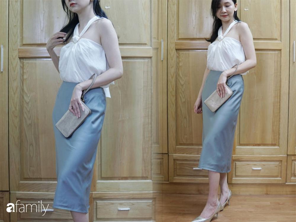 Sắm chân váy lụa Uniqlo 299k: Váy ôm nhưng không hề lộ bụng, mix kiểu nào cũng chuẩn style Pháp  - Ảnh 9.