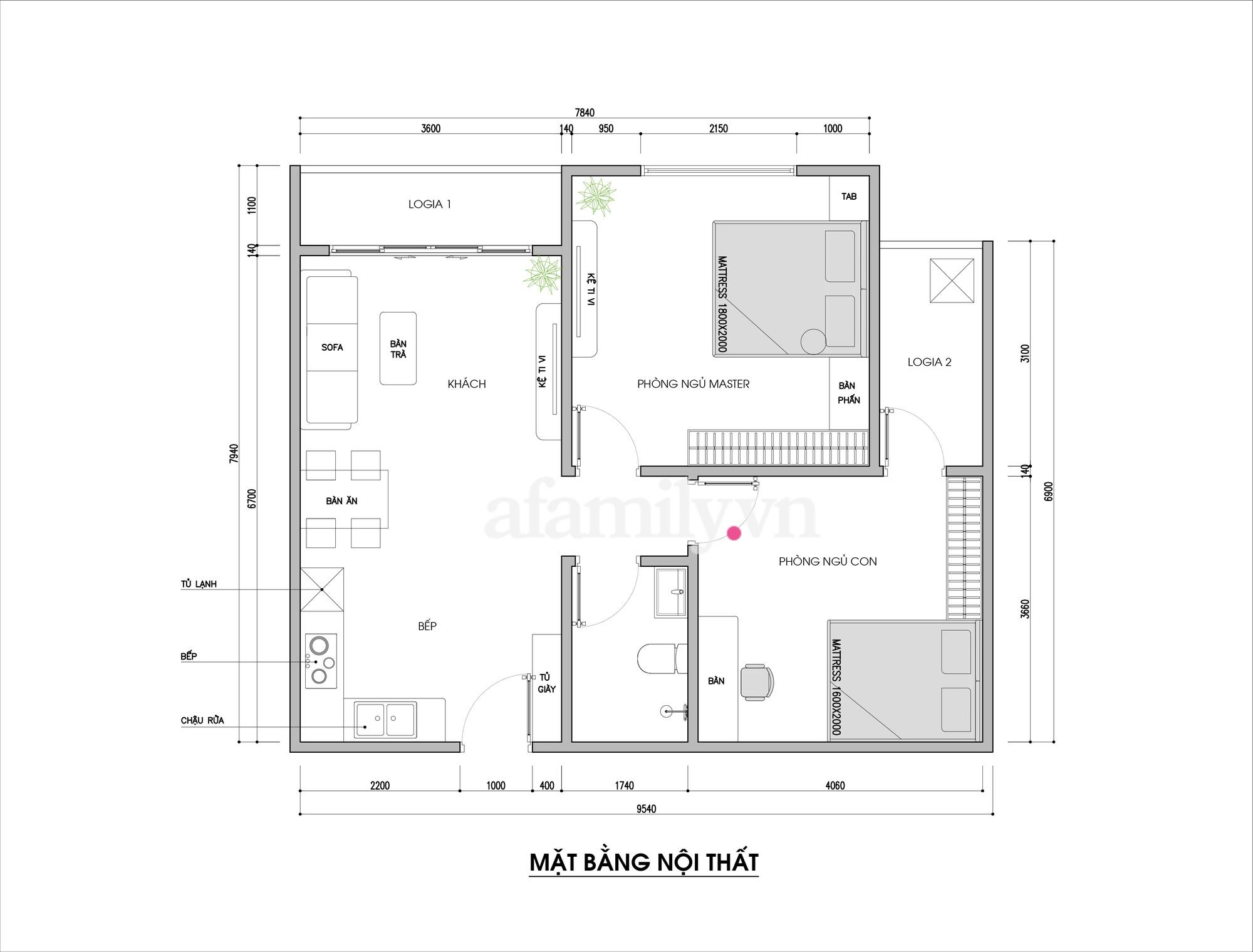 Tư vấn thiết kế căn hộ 69m² với tổng chi phí dưới 170 triệu với phong cách tối giản - Ảnh 1.