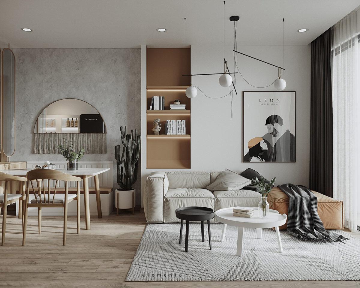 Tư vấn thiết kế căn hộ 69m² với tổng chi phí dưới 170 triệu với phong cách tối giản - Ảnh 2.
