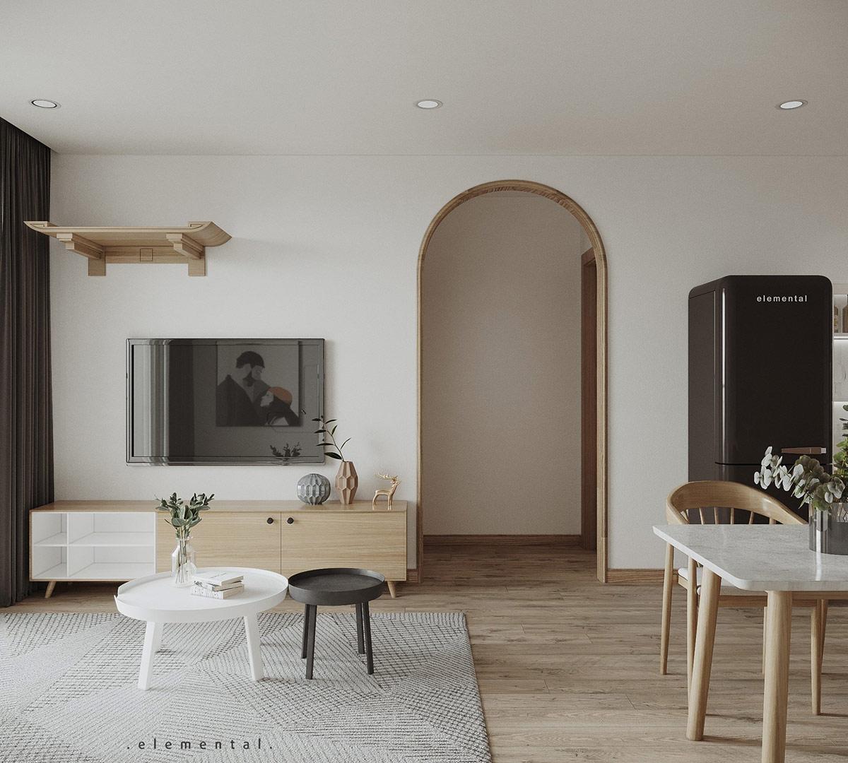 Tư vấn thiết kế căn hộ 69m² với tổng chi phí dưới 170 triệu với phong cách tối giản - Ảnh 3.