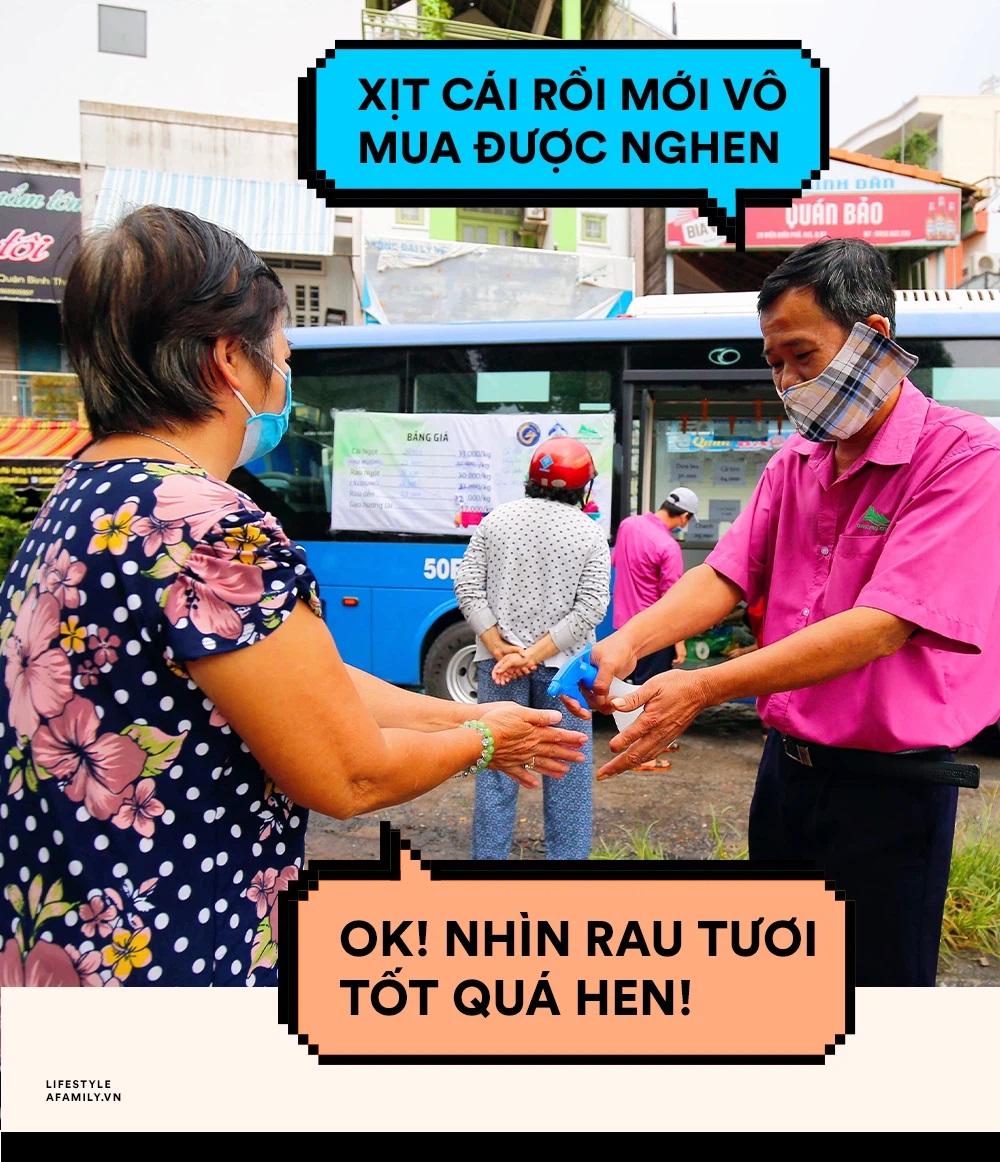 Người Sài Gòn lên xe buýt để... mua rau củ, thịt cá giá bình ổn, đảm bảo an toàn đủ các bước nhưng quan trọng chất lượng liệu ra sao? - Ảnh 1.