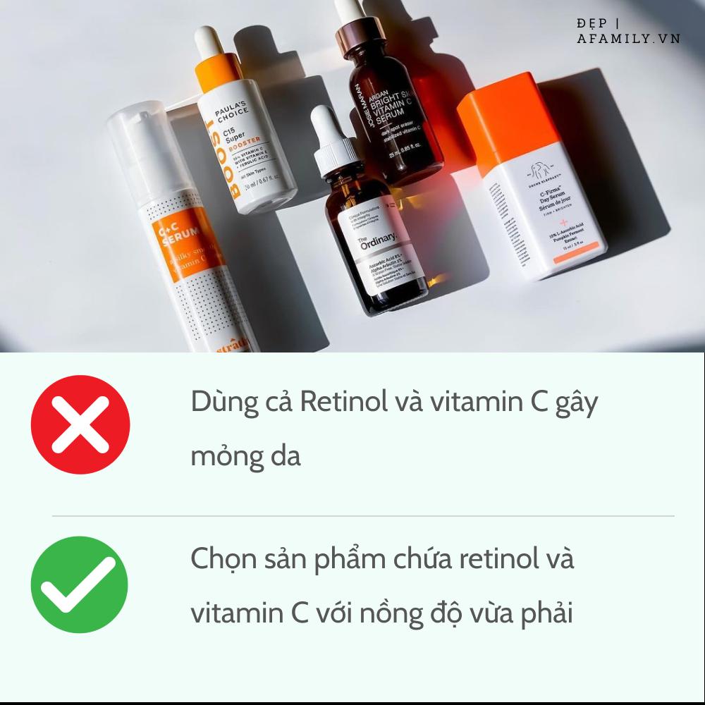 5 sai lầm khi sử dụng retinol và vitamin C khiến da sạm nám và lão hóa không phanh - Ảnh 5.