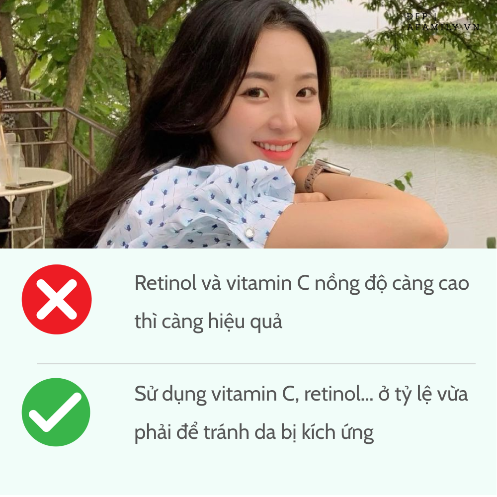 5 sai lầm khi sử dụng retinol và vitamin C khiến da sạm nám và lão hóa không phanh - Ảnh 4.