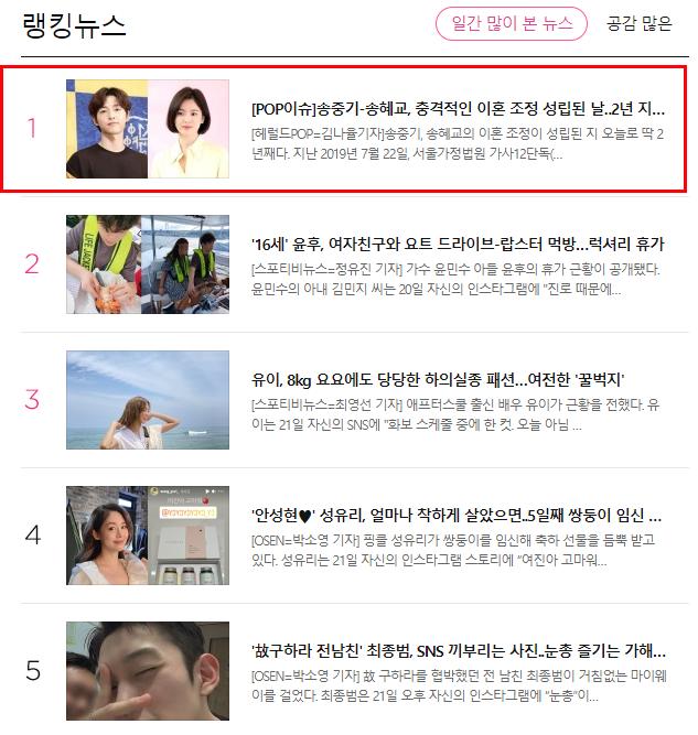 Vụ ly hôn giữa Song Hye Kyo và Song Joong Ki bất ngờ lên No.1 hot search, chuyện gì đây? - Ảnh 2.