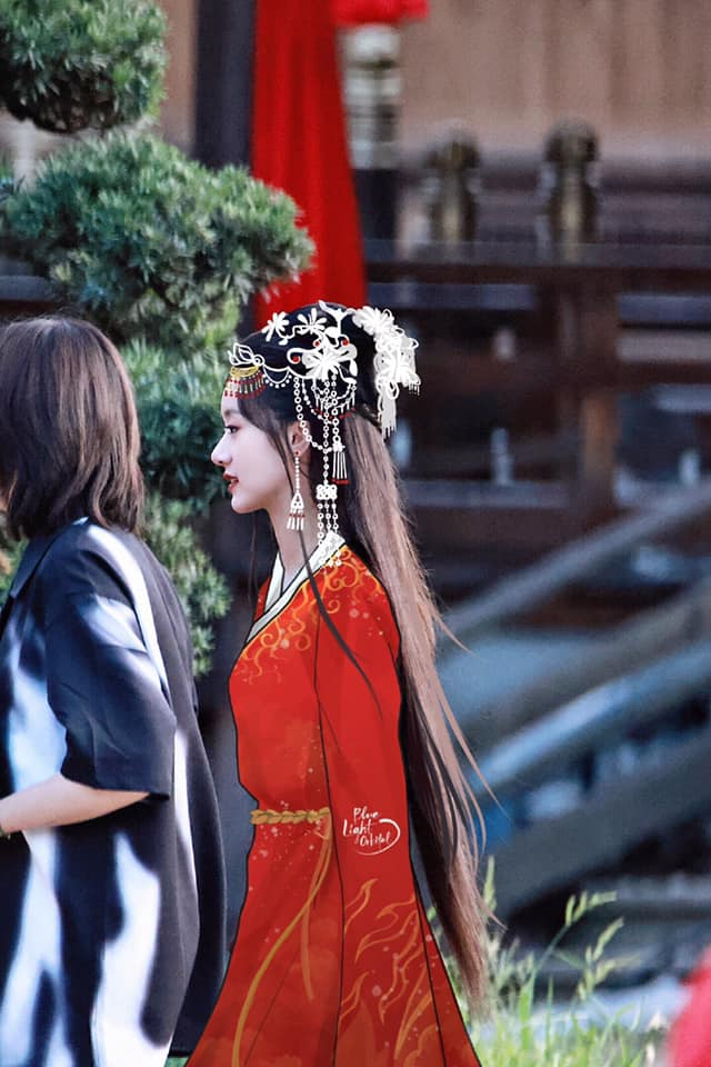Lộ tạo hình áo đỏ cực phẩm của Viên Băng Nghiên, fan truyền tay nhau ảnh chụp vội đẹp mê mẩn  - Ảnh 2.