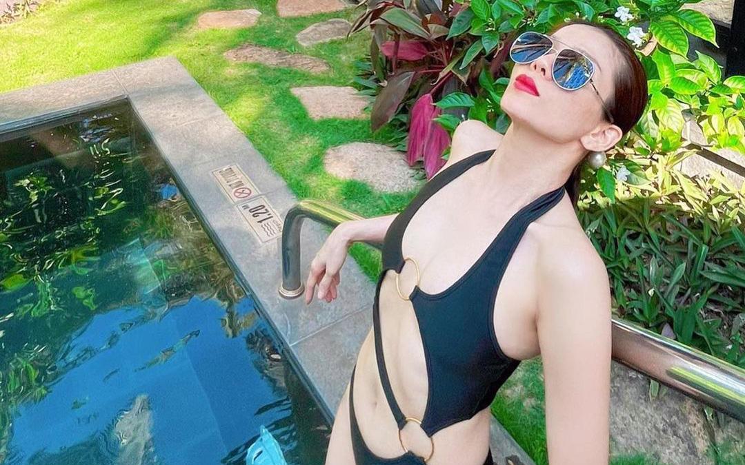 """Lệ Quyên diện bikini khoe thân hình ở tuổi 40 sau loạt ồn ào chê antifan """"thô tục bẩn thỉu"""""""