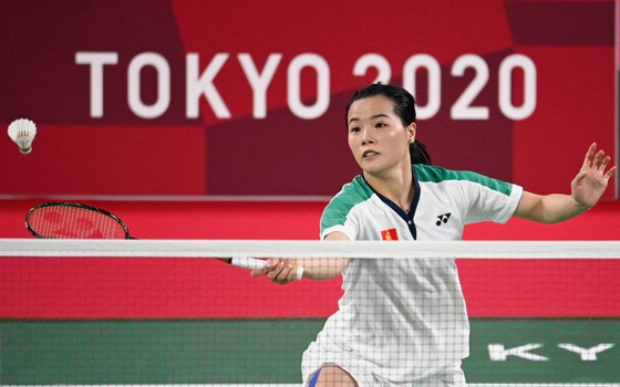 """Hot girl cầu lông Nguyễn Thuỳ Linh khiến tay vợt số 1 thế giới """"vã mồ hôi"""" ở Olympic Tokyo"""