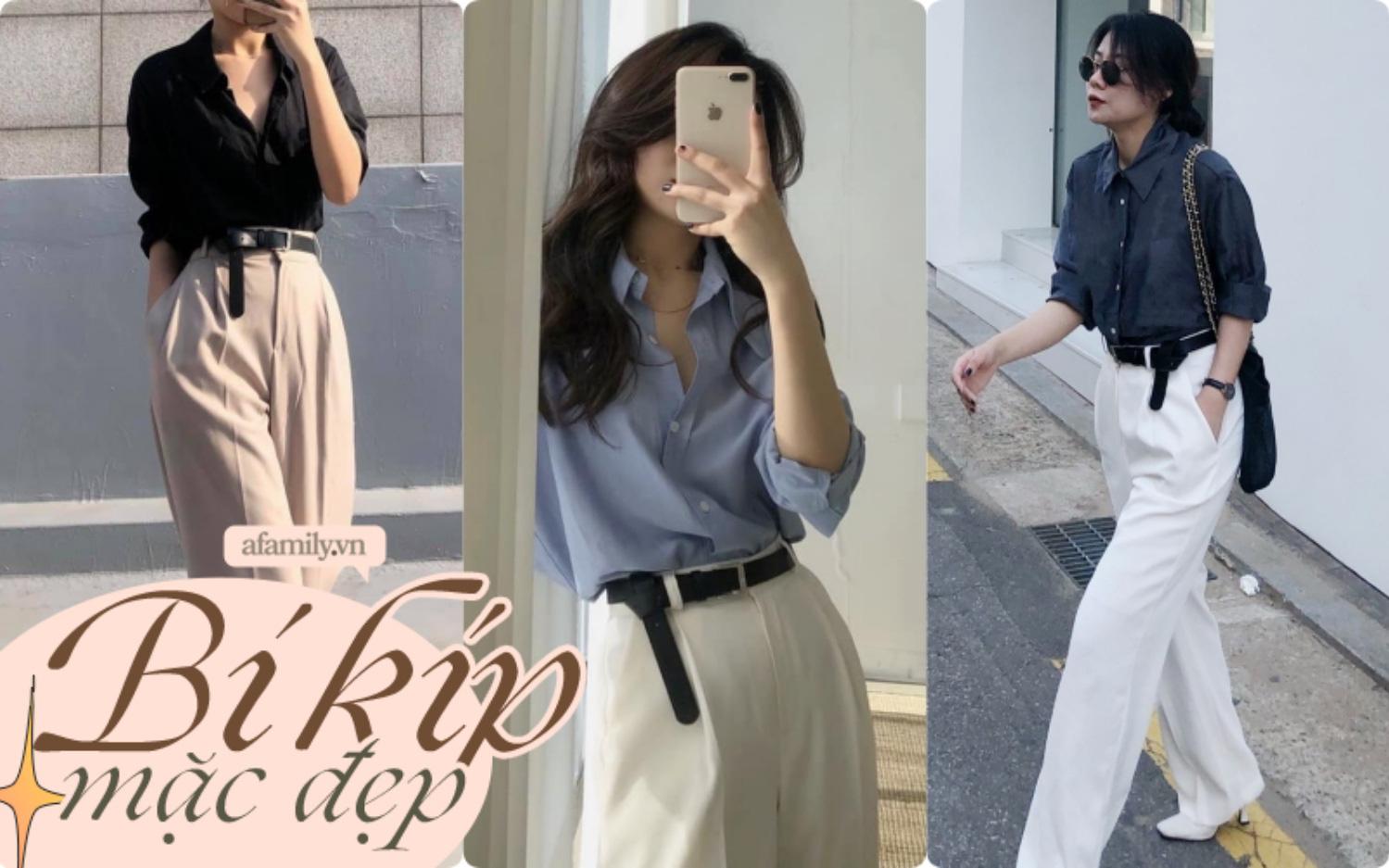 """Mê quần ống rộng đến mức có tới 10 chiếc trong tủ, cô nàng du học sinh Hàn Quốc chỉ chiêu mặc đẹp """"quên sầu"""" ngay cả với nàng thấp bé"""