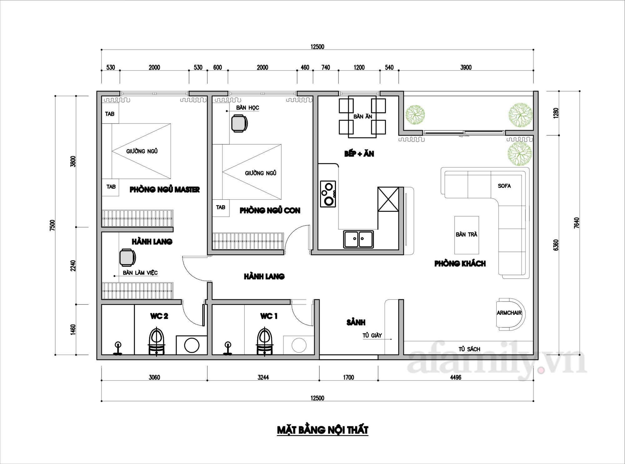 Tư vấn thiết kế căn hộ 90m² theo phong cách Scandinavian cho gia đình 3 người, chi phí 200 triệu - Ảnh 2.