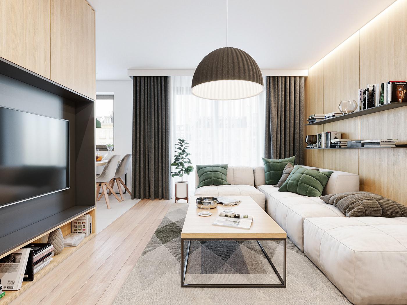 Tư vấn thiết kế căn hộ 90m² theo phong cách Scandinavian cho gia đình 3 người, chi phí 200 triệu - Ảnh 4.