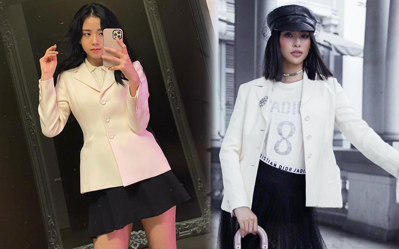 """Đụng áo với Jisoo, Hoa hậu Tiểu Vy lên đồ cá tính hơn hẳn mỹ nhân """"hiền khô"""" của BLACKPINK - Ảnh 7."""