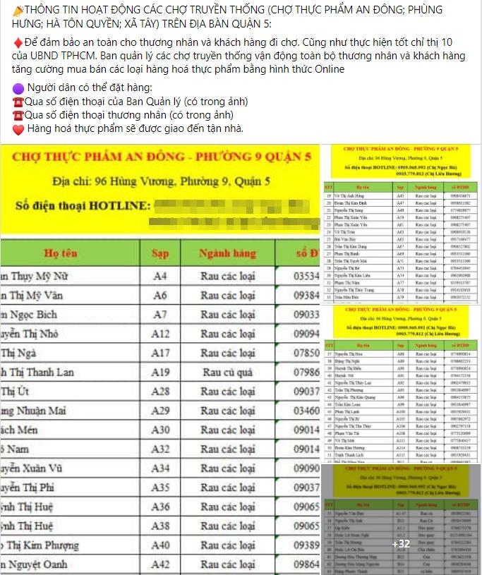 """Hàng loạt chợ truyền thống ở Sài Gòn chuyển hình thức online """"ship đến tận giường"""" cho khách trong mùa dịch - Ảnh 3."""