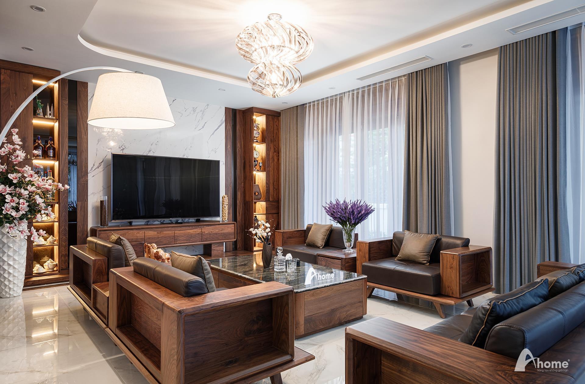Nội thất gỗ óc chó Ahome khơi gợi cảm hứng hiện đại, tiện nghi và sang trọng cho không gian gia đình - Ảnh 1.