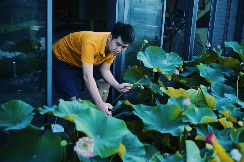 """""""Hồ sen"""" với đủ loại hoa hiếm trên penthouse 300m² của travel blogger dành tặng vợ ở Hà Nội - Ảnh 14."""