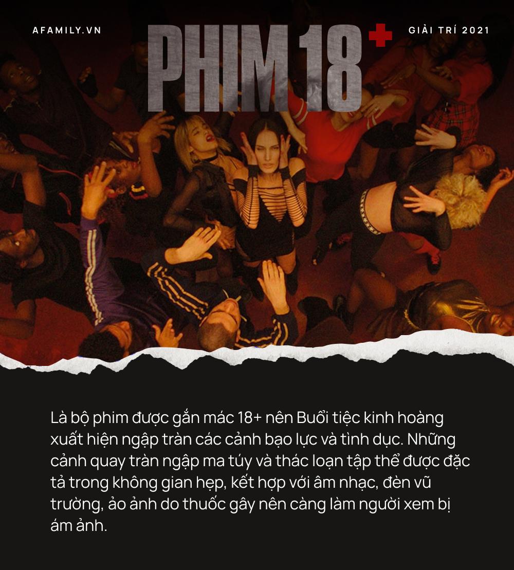 """Phim 18+ """"Buổi tiệc kinh hoàng"""": Tái hiện góc khuất suy đồi của giới trẻ, loạt cảnh thác loạn tập thể gây choáng váng - Ảnh 5."""