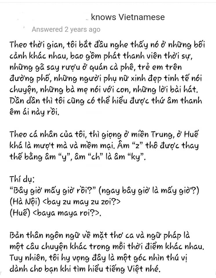 Người nước ngoài review tiếng Việt: Học 1 tháng không đánh vần được a, ă, â; sốc văn hóa vì mỗi từ You lại quá lắm cách gọi  - Ảnh 2.