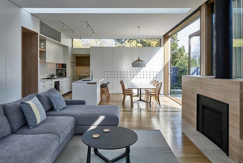 Căn nhà gỗ một tầng mang cuộc sống của gia đình trẻ hòa mình cùng thiên nhiên - Ảnh 6.