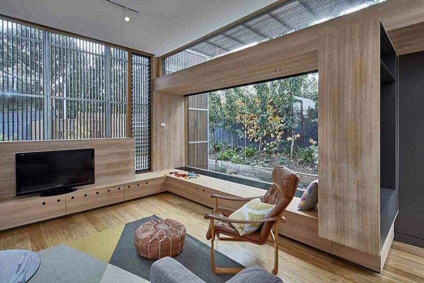 Căn nhà gỗ một tầng mang cuộc sống của gia đình trẻ hòa mình cùng thiên nhiên - Ảnh 8.
