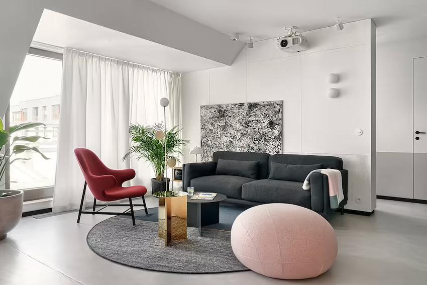 Căn hộ 42m2 decor tinh tế với nội thất và màu sắc hiện đại dành cho vợ chồng trẻ - Ảnh 4.