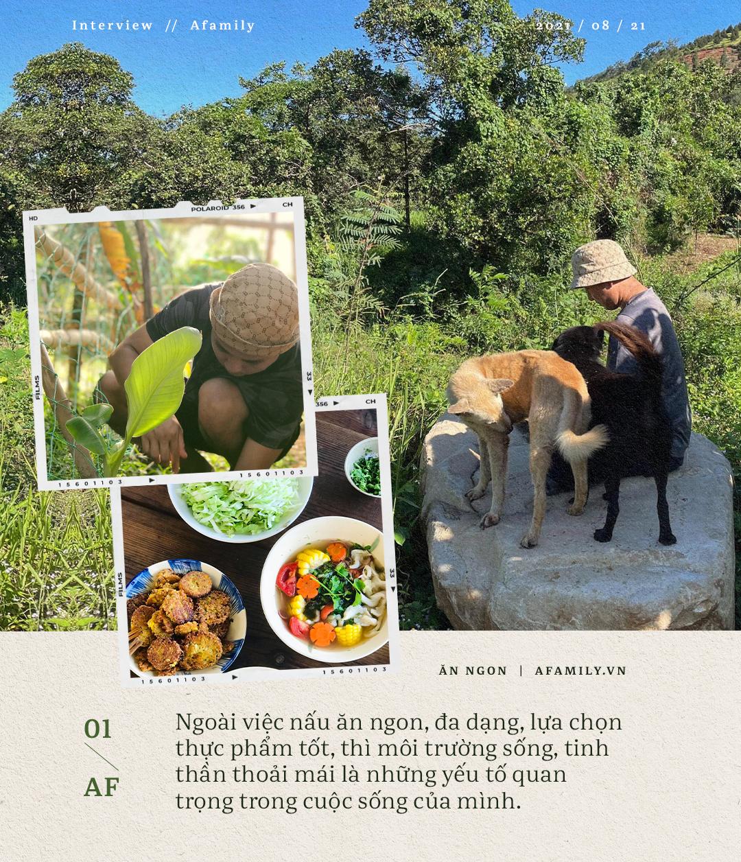 Ngày Vu Lan, gặp trai đẹp làm kiến trúc sư bỏ phố thị về sống gần gũi thiên nhiên, chuyển sang ăn chay và tự trồng rau  - Ảnh 9.