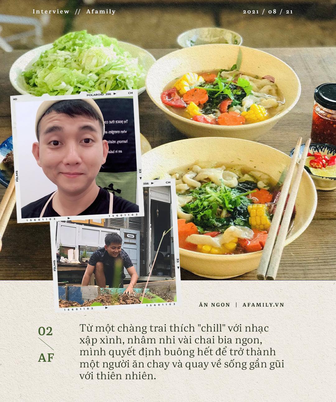 Ngày Vu Lan, gặp trai đẹp làm kiến trúc sư bỏ phố thị về sống gần gũi thiên nhiên, chuyển sang ăn chay và tự trồng rau  - Ảnh 2.
