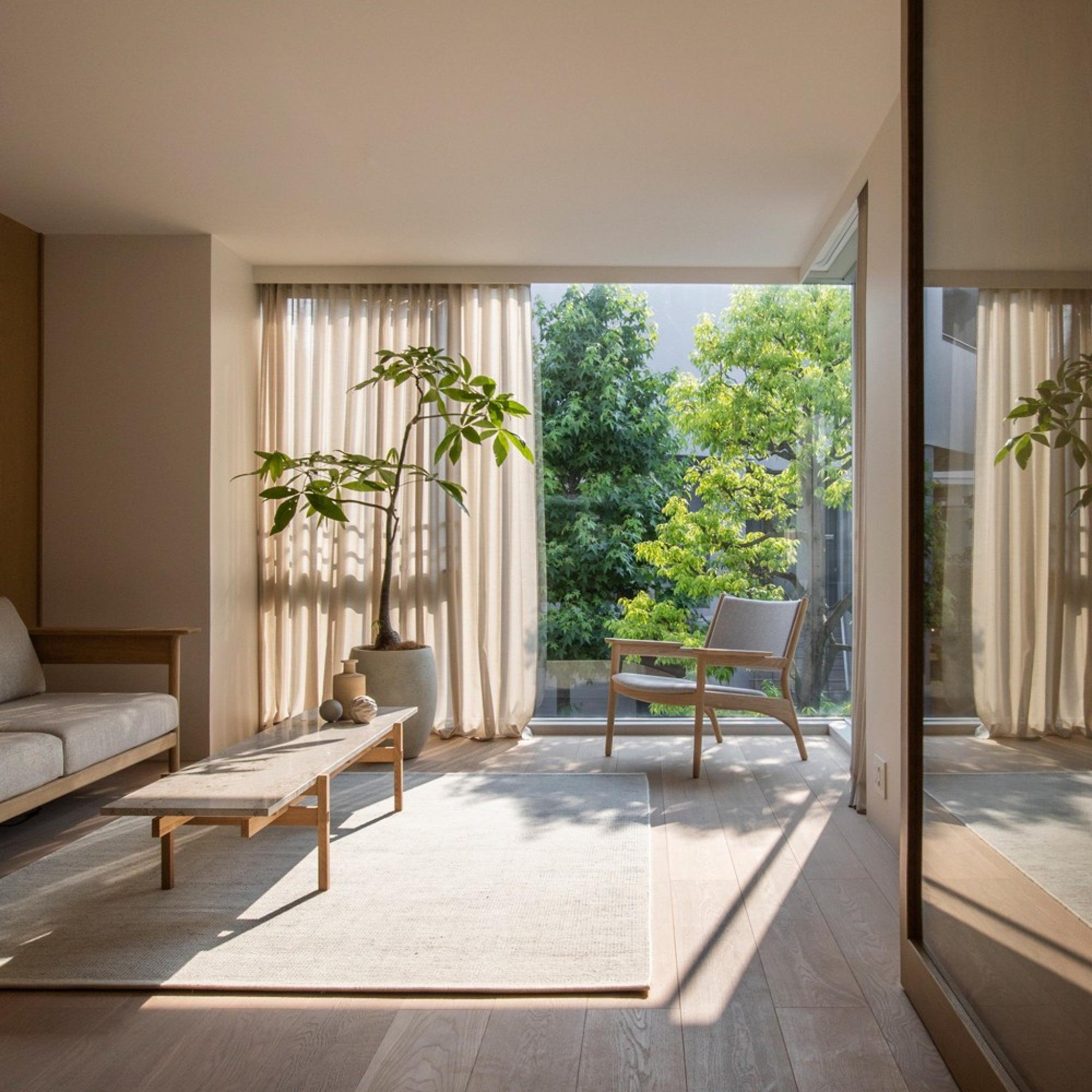 Những thiết kế phòng khách trang nhã, tinh tế lấy cảm hứng từ phong cách Nhật - Ảnh 1.