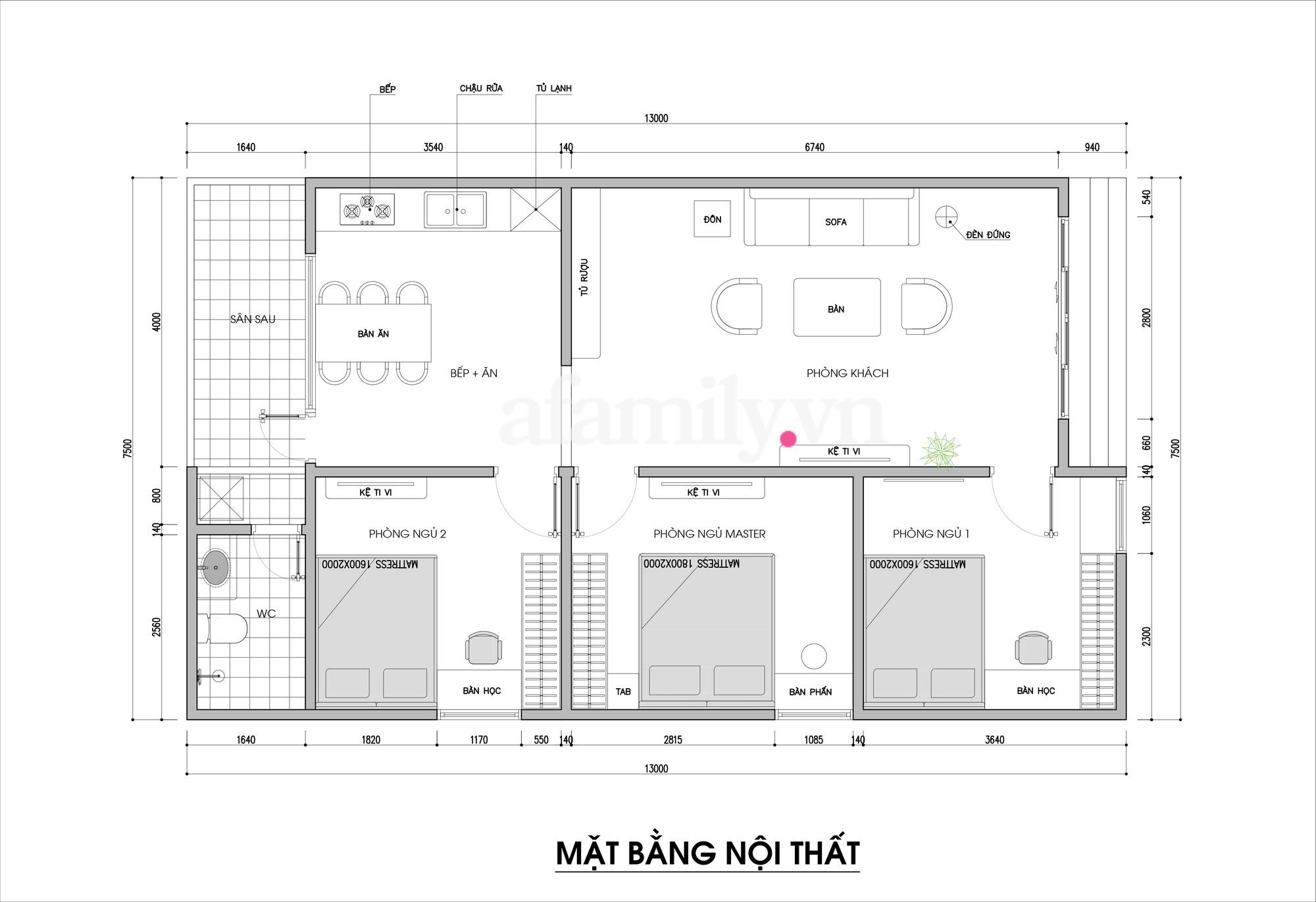 Kiến trúc sư tư vấn thiết kế nhà cấp 4 với diện tích 90m² chi phí tiết kiệm chỉ 180 triệu - Ảnh 2.