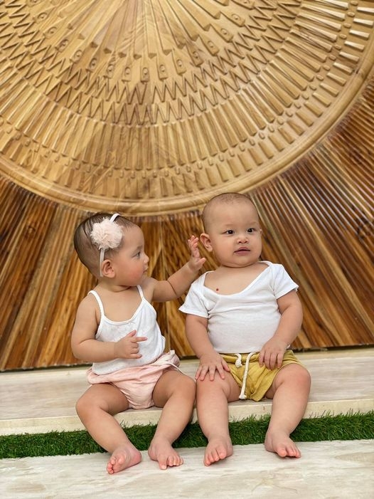 Hồ Ngọc Hà khoe ảnh cặp sinh đôi nhân dịp 9 tháng tuổi, Leon bất ngờ được đề nghị học theo Trấn Thành diễn hài - Ảnh 1.