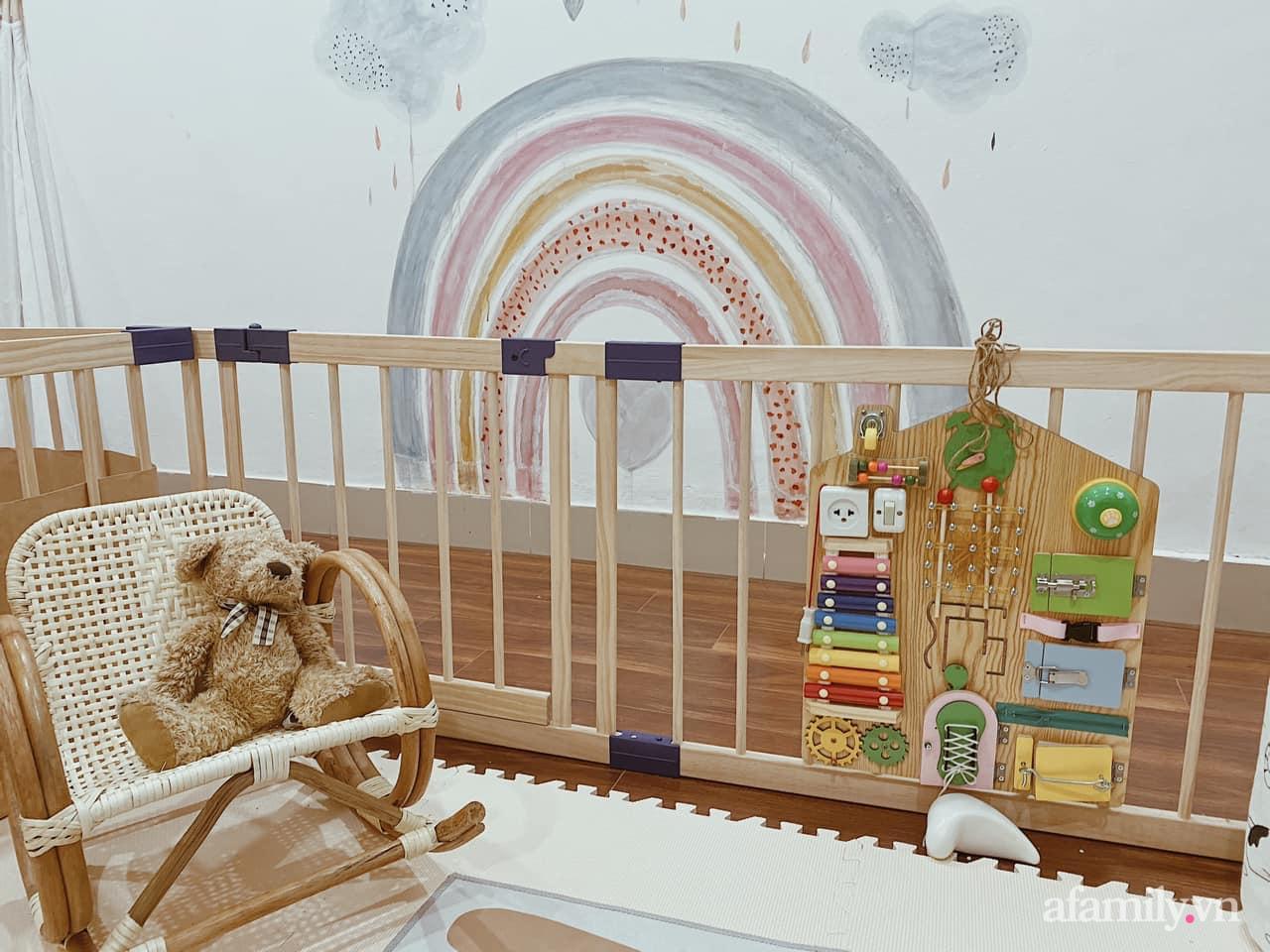 Không gian mẹ trang trí tặng bé ấn tượng với sắc màu Vintage ở Hà Nội - Ảnh 8.