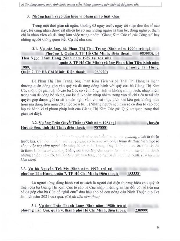 10 trang tờ đơn tố giác các hành vi có dấu hiệu phạm tội của Giang Kim Cúc được luật sư công bố - Ảnh 5.