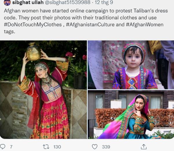 Phụ nữ Afghanistan thách thức Taliban, cùng nhau mặc trang phục truyền thống rực rỡ đang bị lãng quên - Ảnh 5.