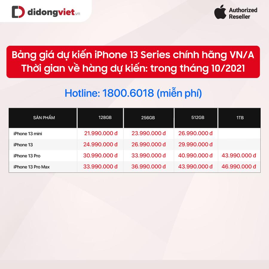 Nhiều đại lý công bố giá bán iPhone 13 chính hãng tại Việt Nam, cao nhất là 50 triệu đồng - Ảnh 1.