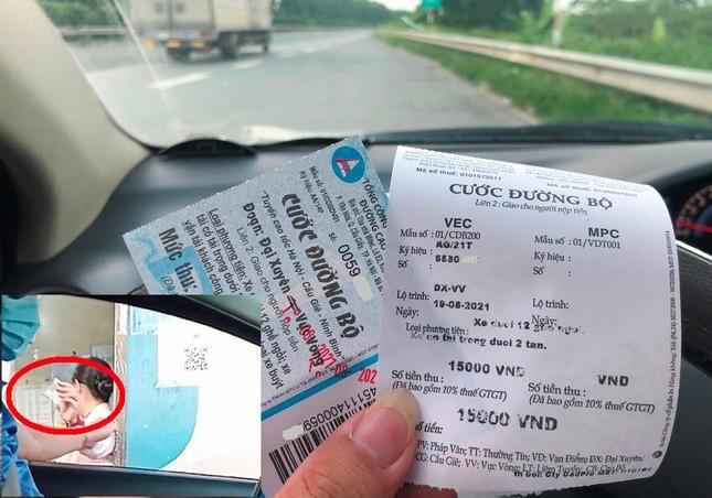 Chặn đường, ép lái xe trên cao tốc về Hà Nội phải đi vòng trả phí - Ảnh 1.