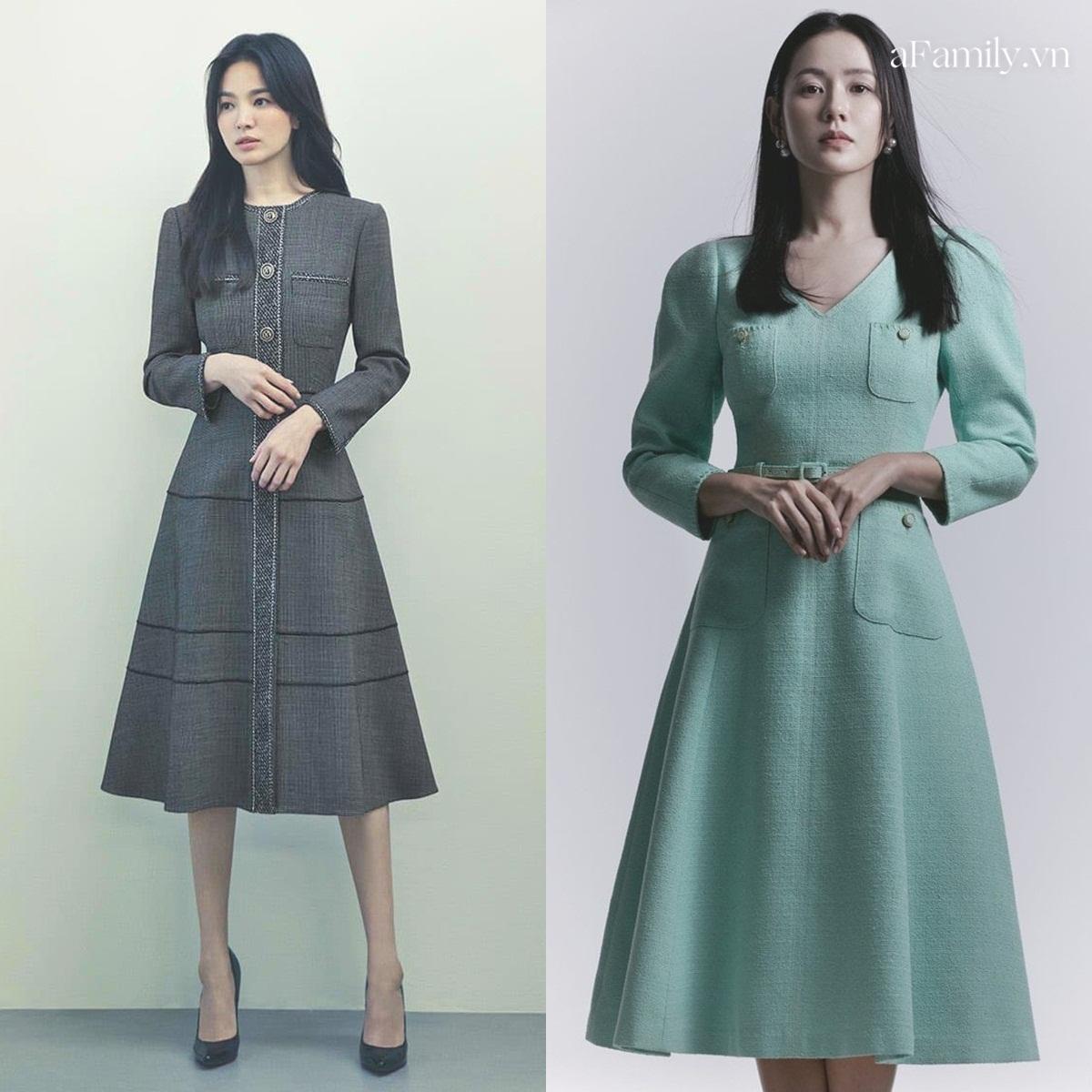 Song Hye Kyo Son Ye Jin làm mẫu đồ công sở Thu Đông - Ảnh 3.