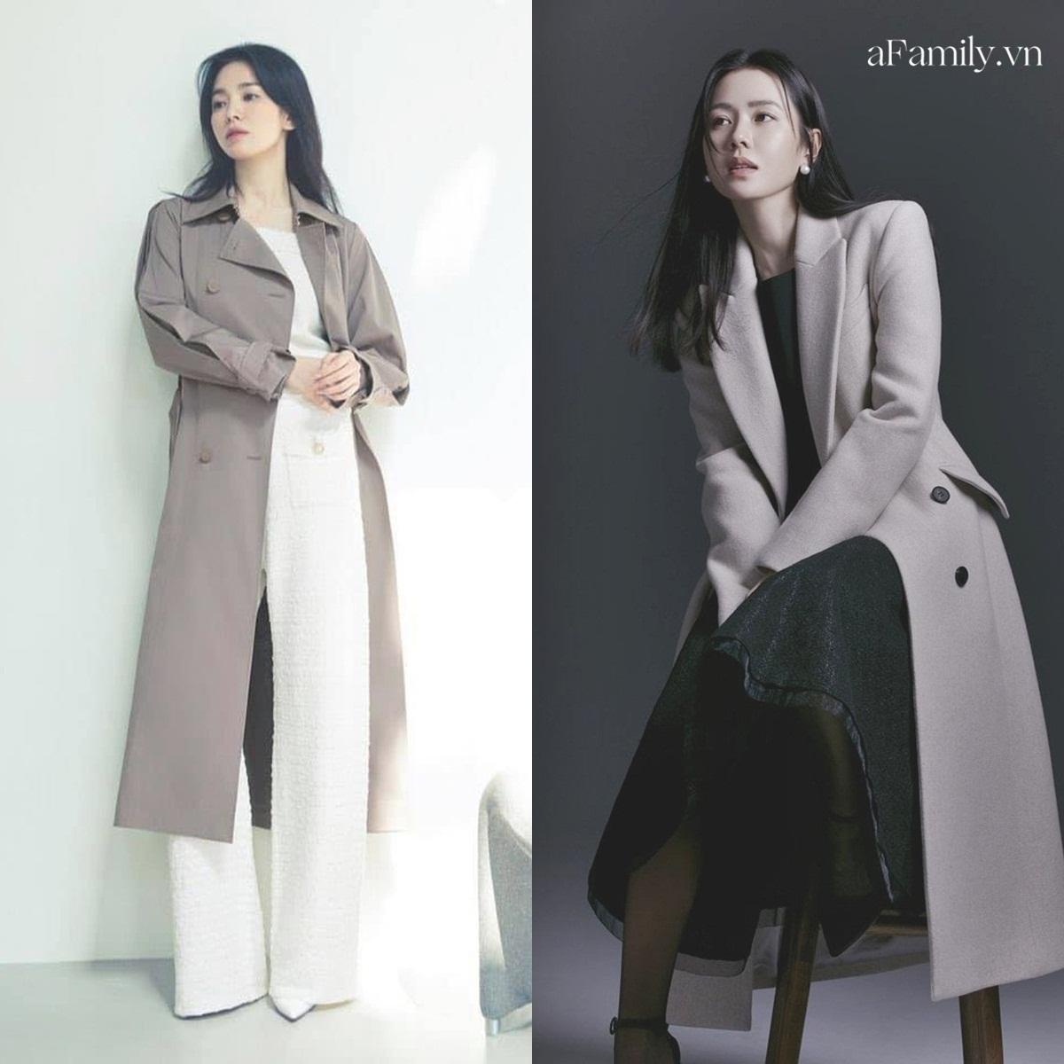 Song Hye Kyo Son Ye Jin làm mẫu đồ công sở Thu Đông - Ảnh 2.