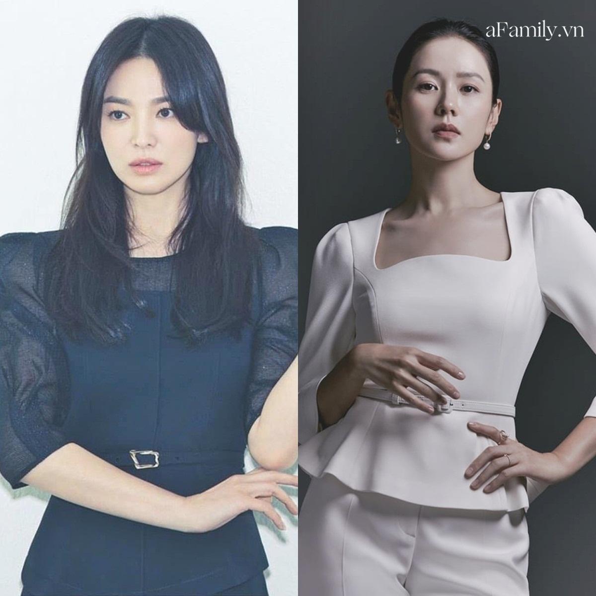Song Hye Kyo Son Ye Jin làm mẫu đồ công sở Thu Đông - Ảnh 1.
