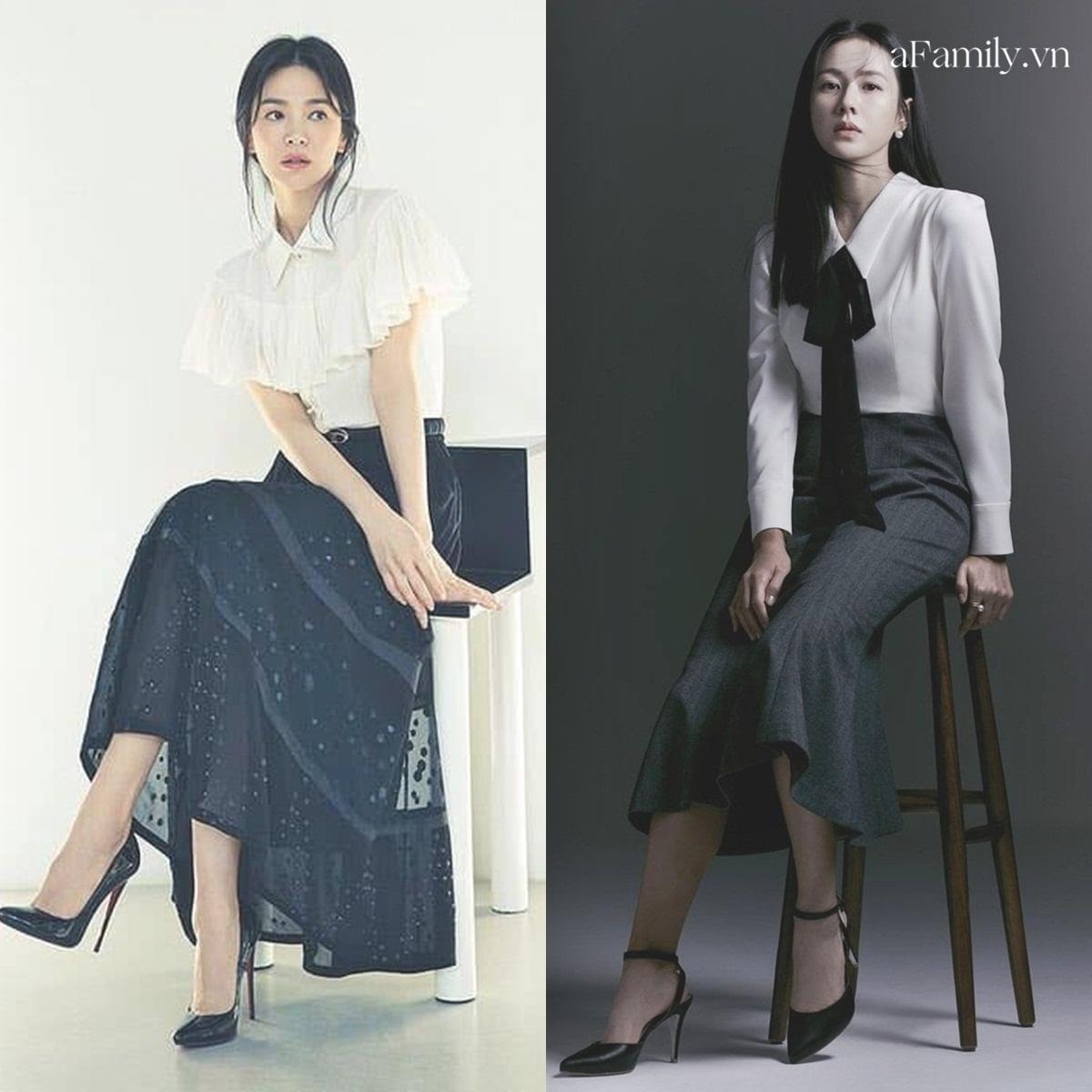 Song Hye Kyo Son Ye Jin làm mẫu đồ công sở Thu Đông - Ảnh 4.