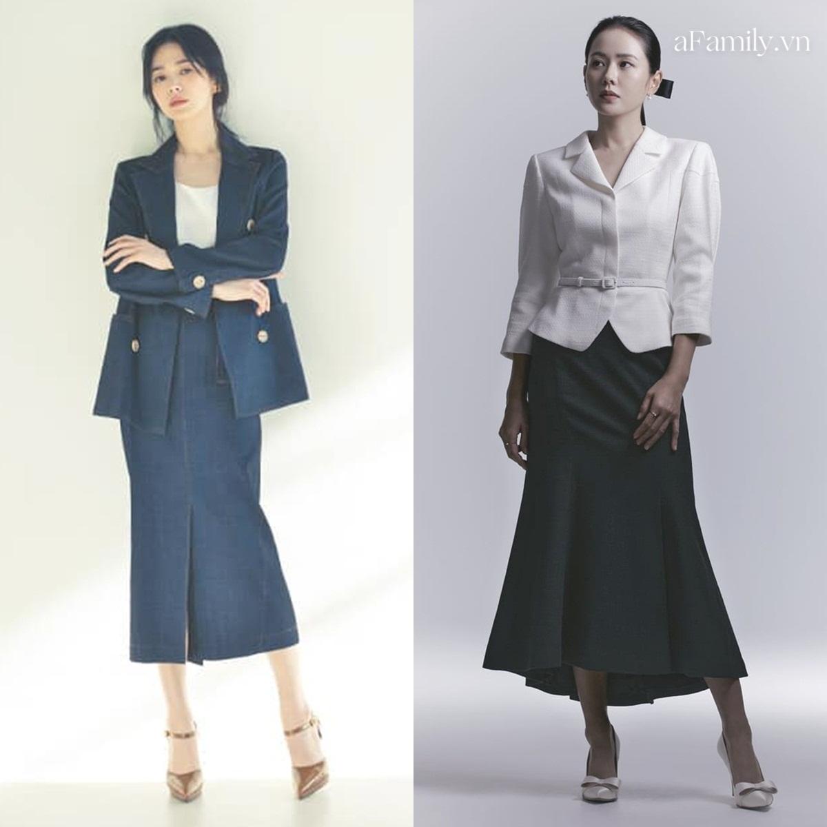 Song Hye Kyo Son Ye Jin làm mẫu đồ công sở Thu Đông - Ảnh 5.